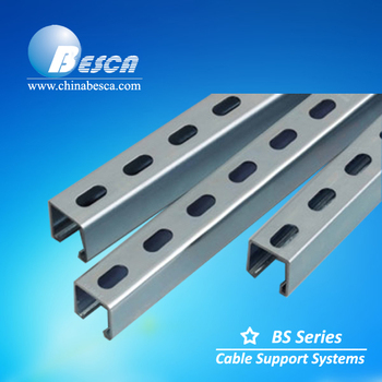 Stainless Steel Slotted Strut Channel(unistrut Manufacturers ul ce iso sgs)  - Buy Strut Channel Unistrut,Perforated Unistrut Channel,Unistrut Channel