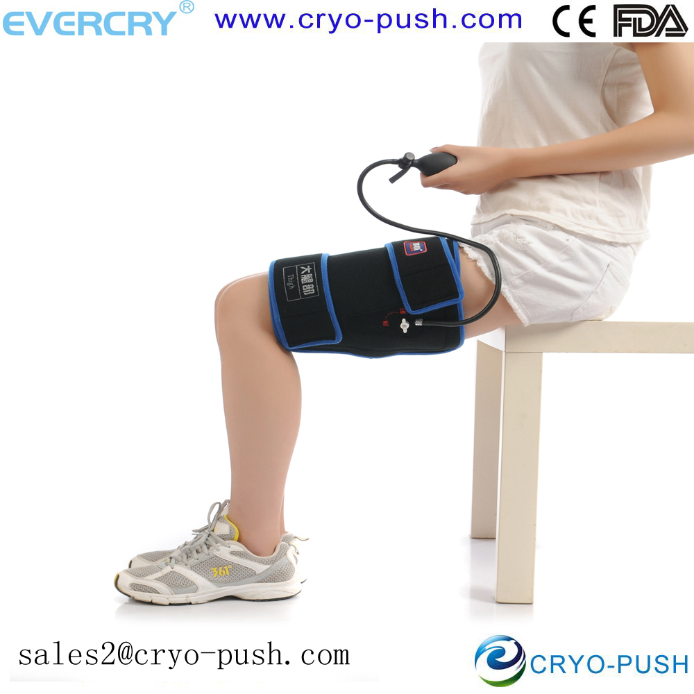 Occupational cold therapy compression system supply for thigh