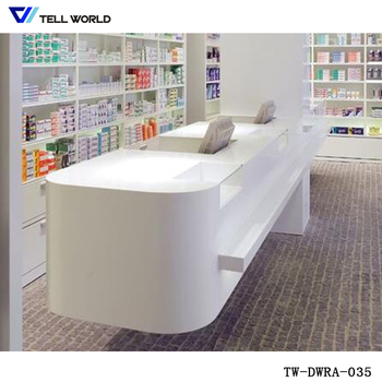 Acrylic Solid Surface Pharmacy Cashier Counter Office Reception