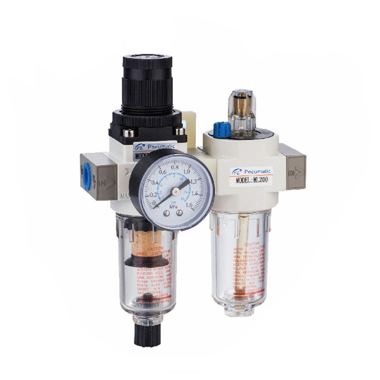 Pneumatic Component of Filter Regulator Lubricator Two-point Combination