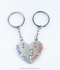 keyring manufacturers metal magnetic love you heart couple keychain for gifts wedding