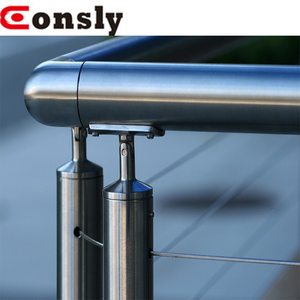 mirror/satin stainless steel cable railing systems for balustrade/frameless glass railing/balcony/banister/staircase