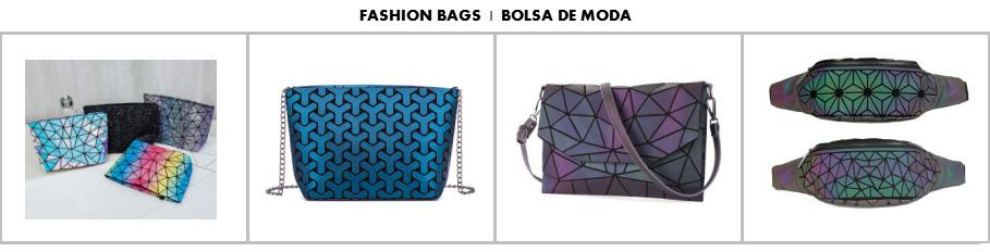 Christmas Promotion Low MOQ Custom logo men three fold luminous purse Fashion Geometric light reflective wallet for women