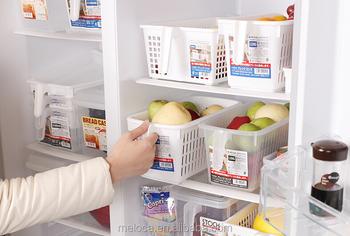 Multifunction fridge food storage box desktop book storage basket home use sundries storage basket with handle & Multifunction Fridge Food Storage Box Desktop Book Storage Basket ...