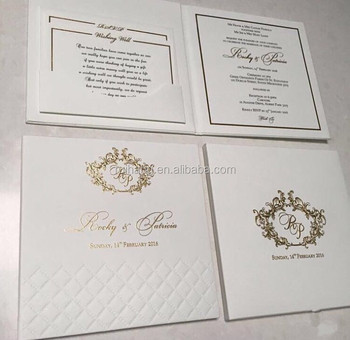Gorgeous Hardcover Book Style Invitation For Ur Special Wedding Day With Embossed