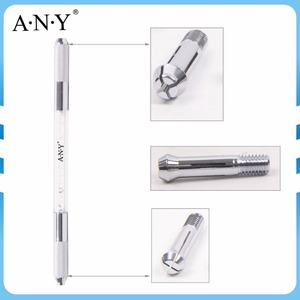 ANY Double Side Crystal Manual Permanent Cosmetic Eyebrow Embroidery Tattoo Gel Ink Pen