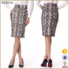 high quality new fashion print skirts alibaba express coffee woman wrap skirt with chain