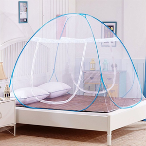 Pop-Up Mosquito Net Tent for Beds Anti Mosquito Bites Folding Design with Net Bottom for Babys Adults Trip