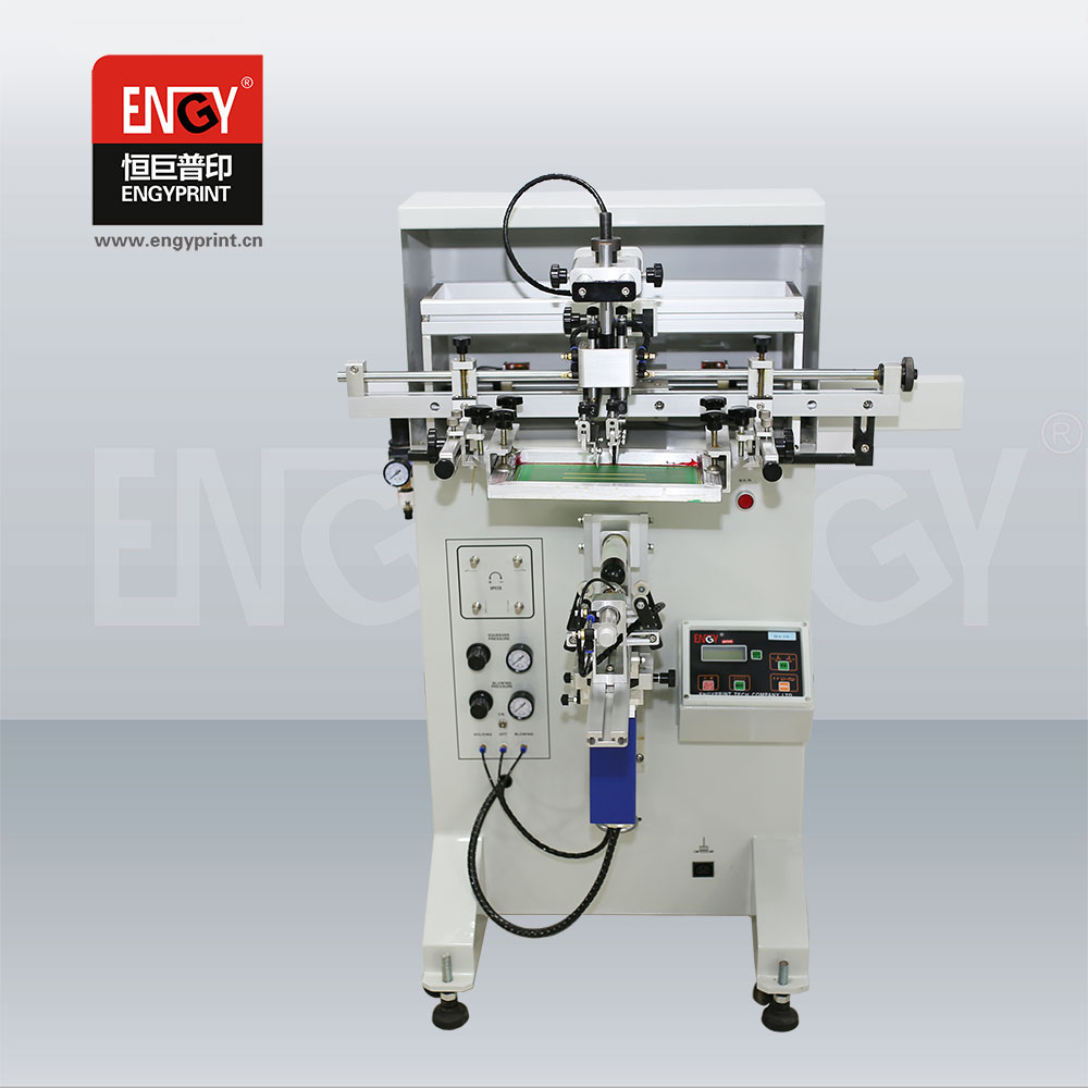 Manual cylindrical/round/curved screen printing machine for pen,cup, mug, bottle