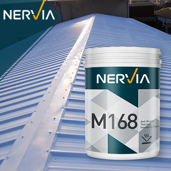 M168 Anti Rust Thermal Insulation Paint For Metal Roof Nano Silica Material Buy Aluminium Foil Panel Heat Insulation Paint Ceramic Coating