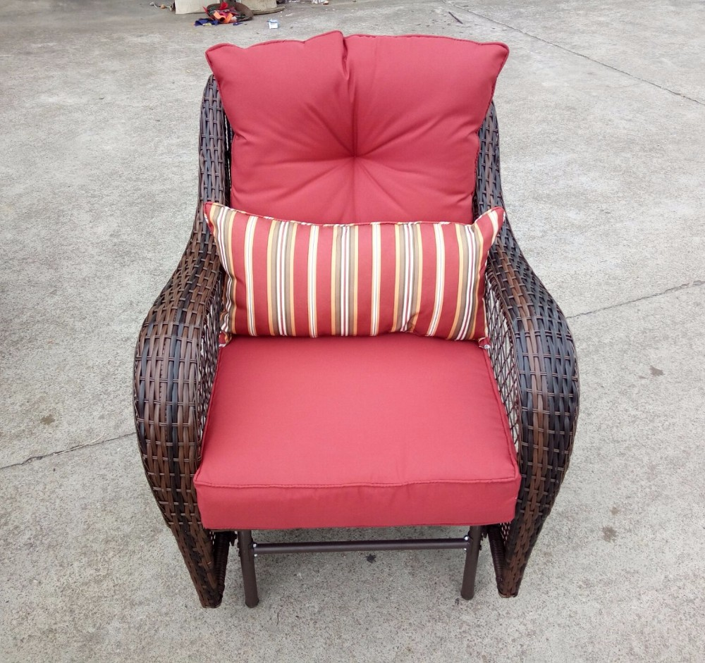 buy online 8c5d2 1f9bc Outdoor Pe Wicker Rattan Patio Glider Chair,Porch Swing Chair - Red - Buy  Glider Swing,Rattan Garden Chair,Rattan Recliner Chair Product on ...