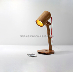 cheap wood study table lamp WT06