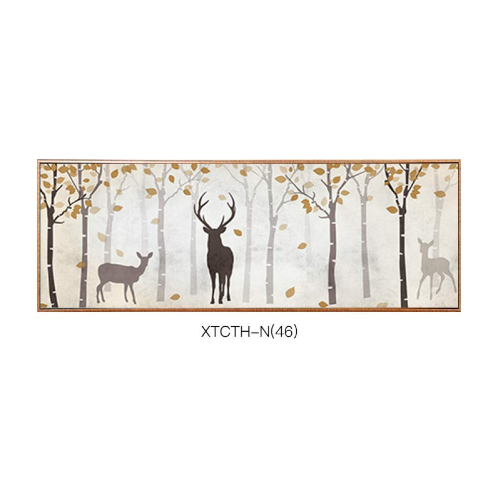 STTS 2018 living room decorative painting, animal bedside painting, horizontal version of bedroom painting, living room sofa background decorative painting, mural
