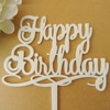 Happy Birthday Cake Topper Acrylic Cake Topper Party Cake Topper