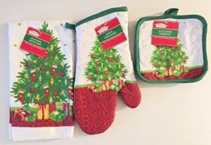 Christmas House Christmas Tree Kitchen Linens Collections 4 Pc