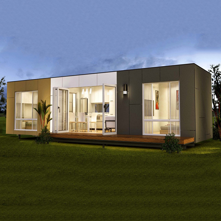 European design low cost modular steel and glass house