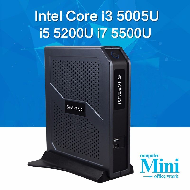 Smart green mini pc Intel Core i7 i5 i3 mini computer USB3.0 With HD video support for computer games.