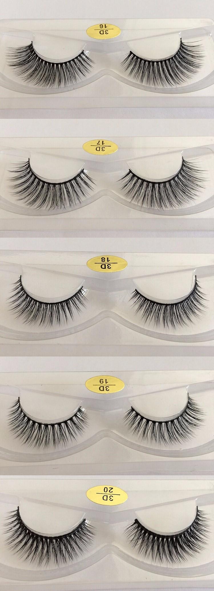 Handmade Korean Synthetic Fiber False Silk Eyelashes 3d