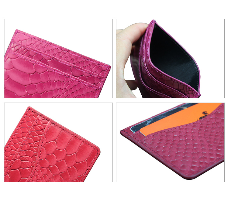 Wholesale good price card holder with strap rfid credit card holder wallet genuine leather card holder