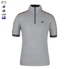 wholesale Embroidered Zipper Collar Mens Polo T Shirt