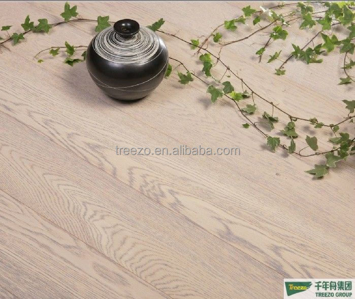 wash white oak engineered wood flooring HOMAG line