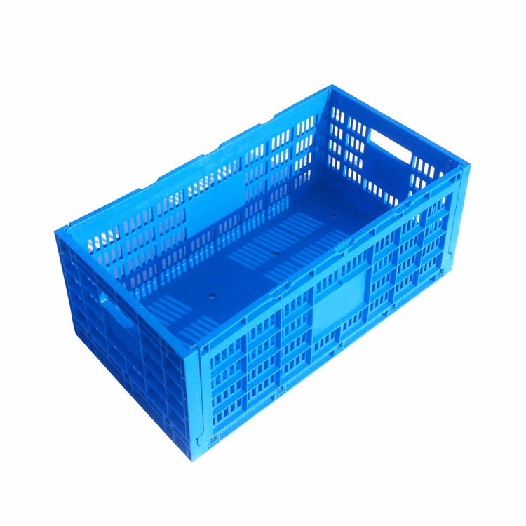 Low price Egg packaging foldable plastic storage crate food grade  plastic folding container