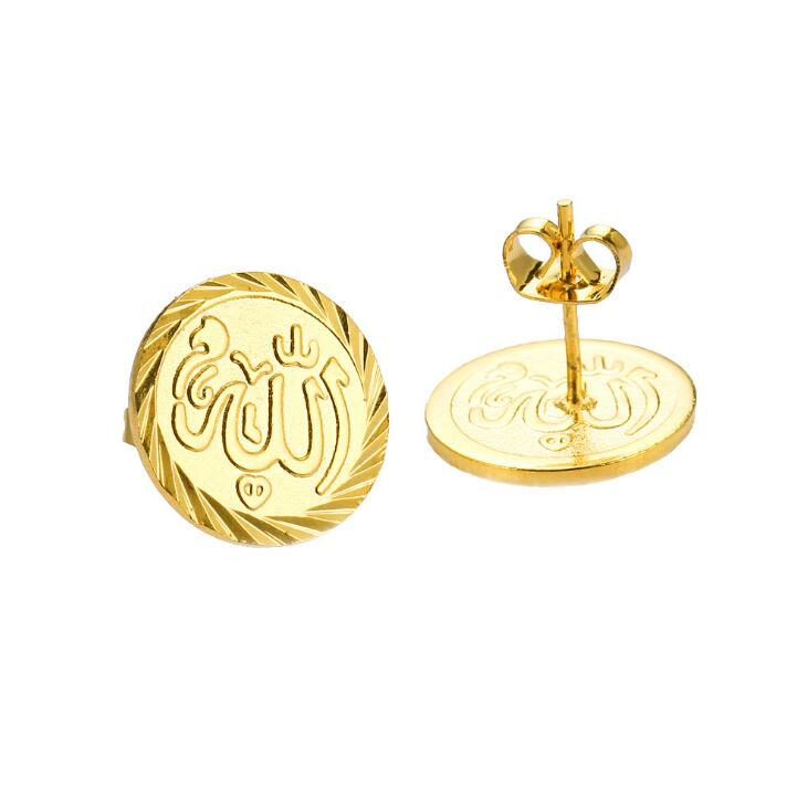 Newest middle east saudi arab muslim religion earrings gold jewelry