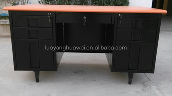 steel office desk. Steel Office Desk/steel Computer Table With Double Metal Pedestal (3-drawer Cabinet Desk