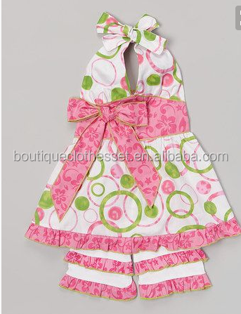 Yiwu Yawoo Garments Factory Clothes Children Clothing Manufacturers China  Outfit Casual Kids Spring Summer Ruffle Capris Outfits - Buy Yiwu Yawoo