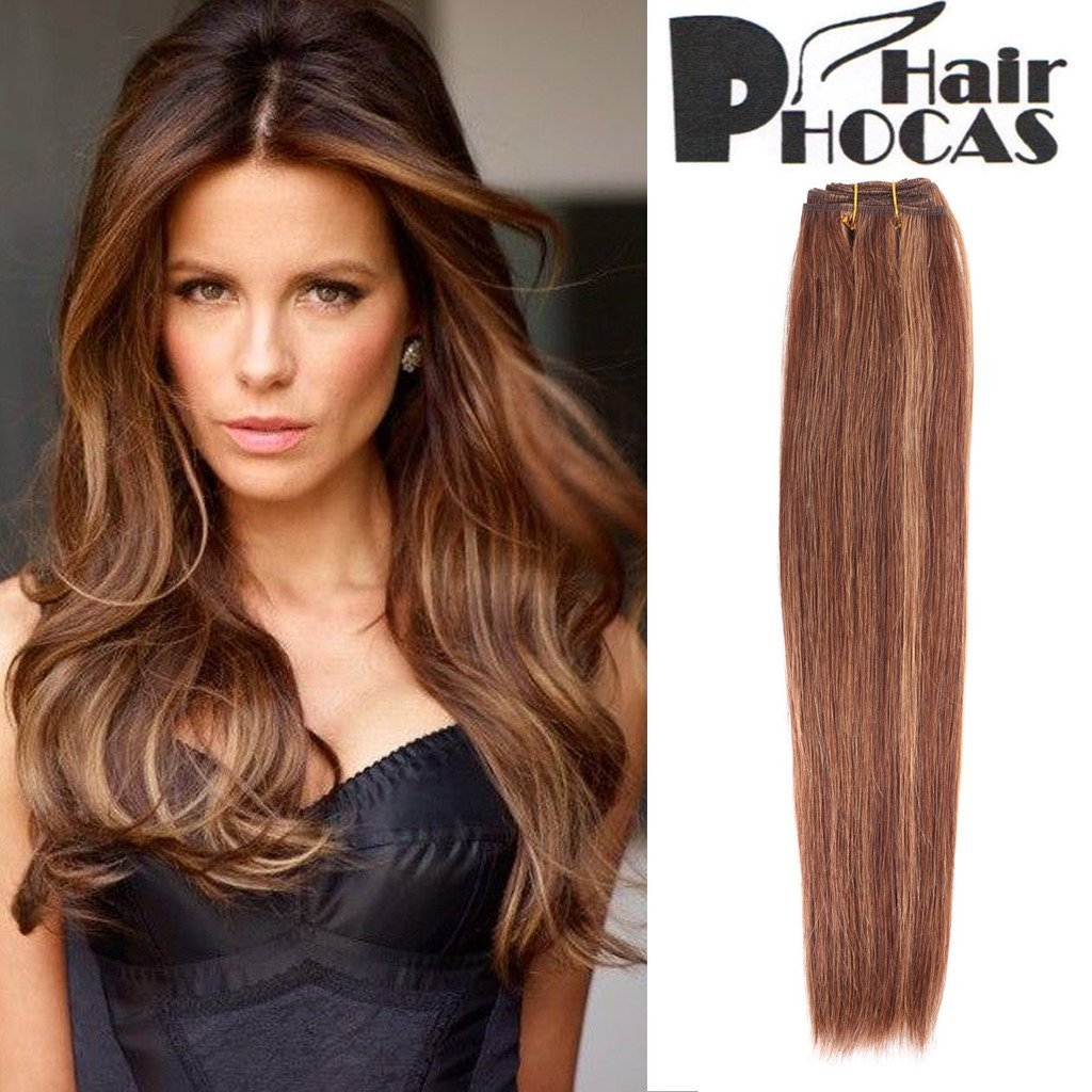 Buy Hairphocas 100 Brazilian Human Hair Weave Dark Brown Hair With