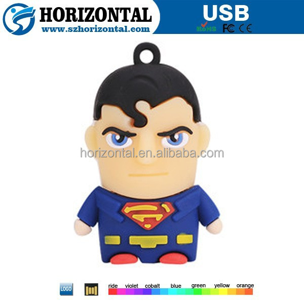 Free Sample!Hot Sale promotional gift super heros usb flash drive