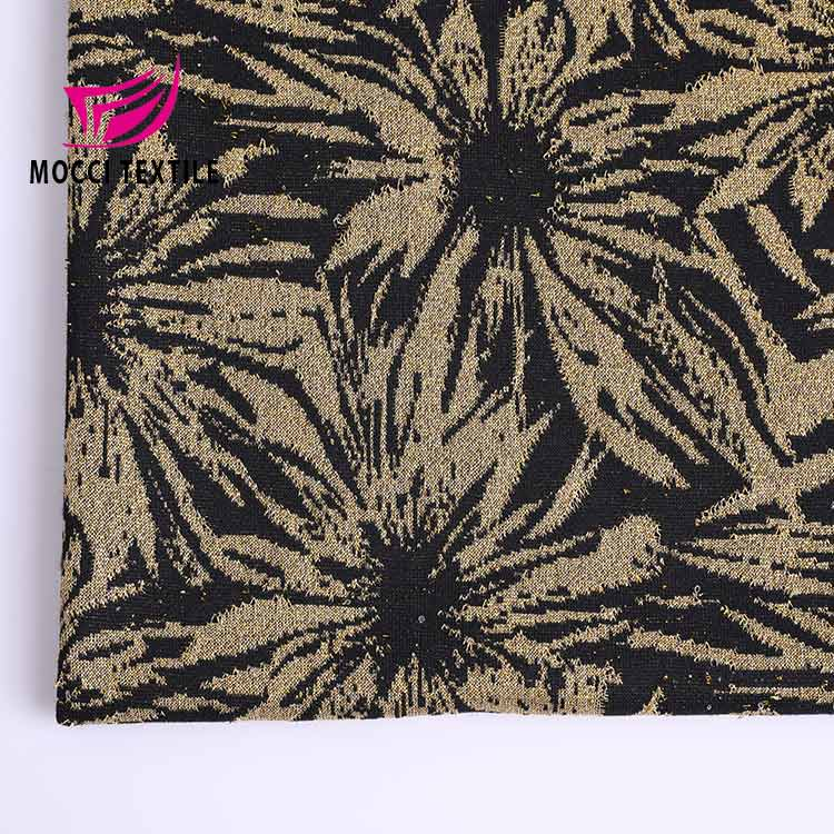 mocci China Supplier rayon metallic jacquard fabric price for dress