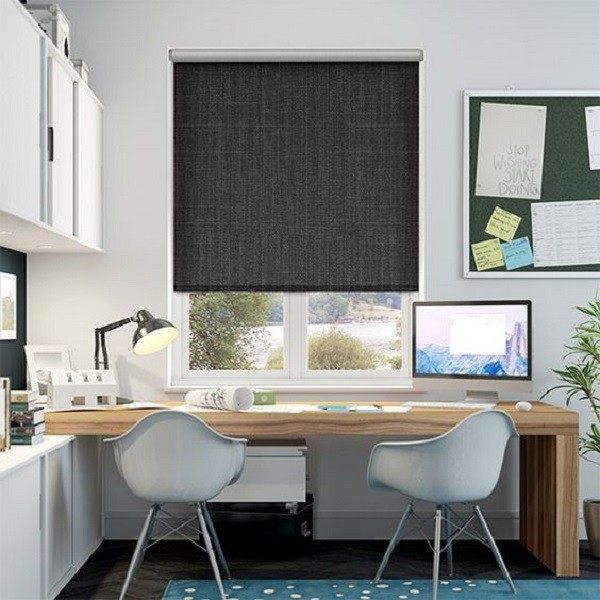sound proof curtain fabric for motorized roller screen blinds
