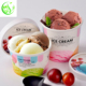 reusable cheap logo printing paper ice cream cup raw material