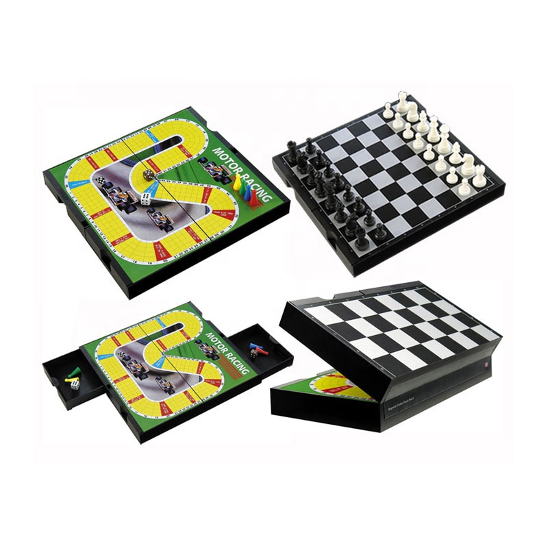 2IN 1 Folded Board International Magnetic Chess Set playing Game