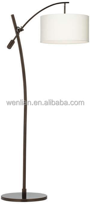 Bronze Boom Arc Floor Lamp/european Floor Lamps With Linen Shade ...
