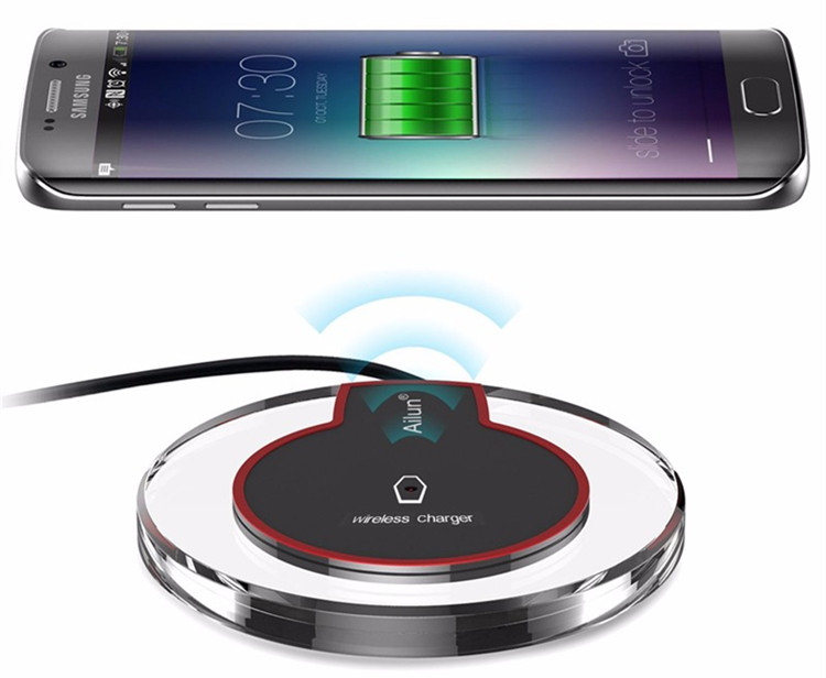 Custom Logo Portable Qi Crystal Wireless Charger for iPhone Xs Xr Xs max Mobile Fantasy Wireless Charger for OPPO