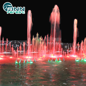 FS11 Customized size pond floating water fountain with colored lights
