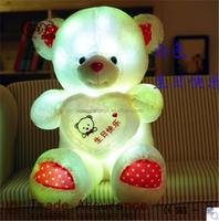 Factory Price Wholesale Custom Stuffed Plush Toys led luminous bear