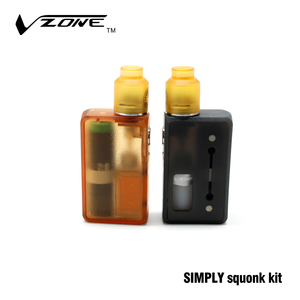 High quality compatible with 18650 20700 and 21700 battery vzone simply squonk kit e-vape ruby mod clone china distributor vape
