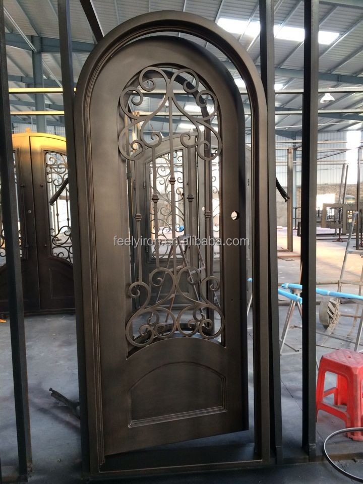 Direct China Wrought Iron Single Entry Doors Fs 046 Door Design