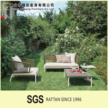 LIGO East Luxurious Sectional Sofa Living Room Sofa Set Garden Leisure  Rattan Furniture Sofa Set