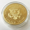 Top quality custom military coins 40mm die stamp matte gold plating challenge coins