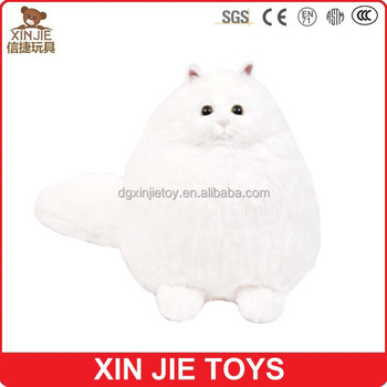 Fat Cat Plush Toy Big Plush Cat Toy White Soft Cat Toy