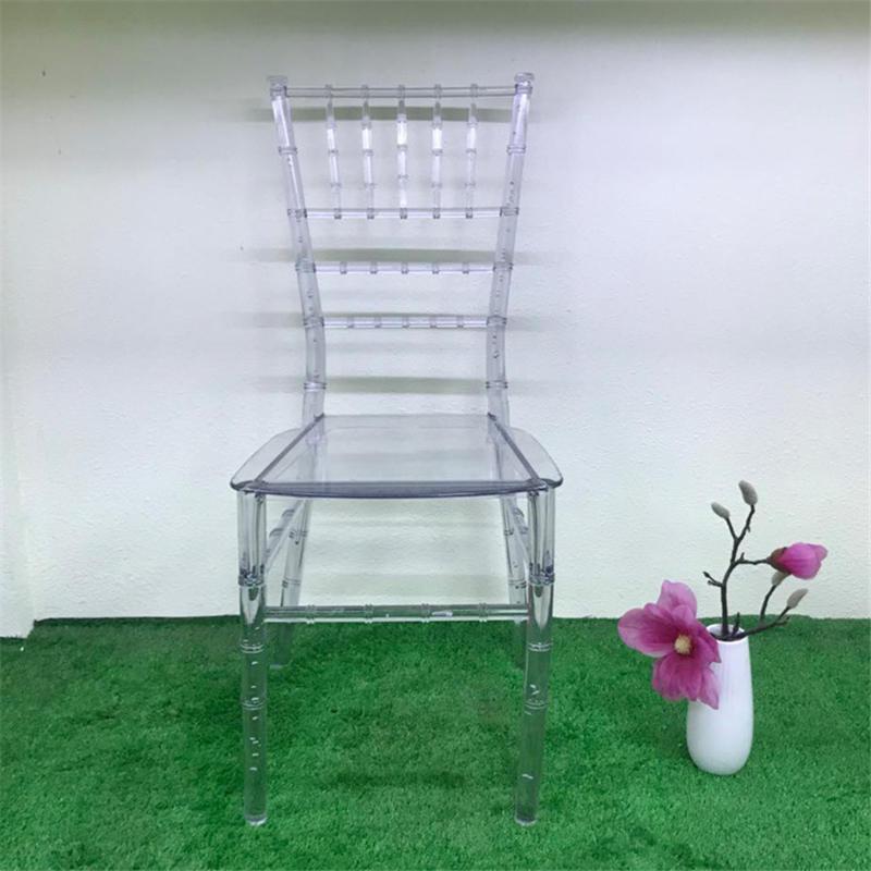 4 шт., прозрачный бамбуковый стул для свадьбы, акриловый стул для банкета, хрустальное сиденье для семейного отеля, украшение для столовой(Китай)