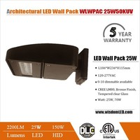 Cheap high performance LED drive stylish 25W outdoor led wall pack lighting