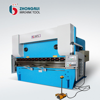 WC67Y 300T/3200 cnc 4+1 axis hydraulic press brake machine , high precise 5 axis metal bending bender