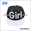 new design custom 3D embroidered snapback hat for girls