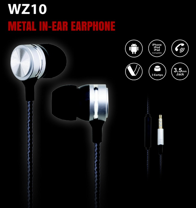Woozik Promotional Earphone Wired In Ear Earphone Headphone With Mic And  Remote Contral - Buy In Ear Earphone,Wired Earphone,Earphone With Mic  Product