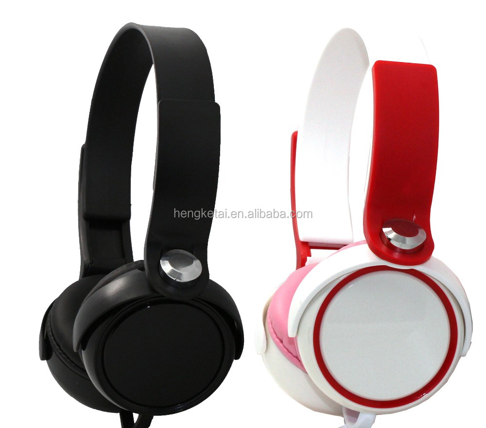 Promotional cheap stereo cute retractable wired headphones headsets with custom logo and colors,wired cheap dj computer headsets
